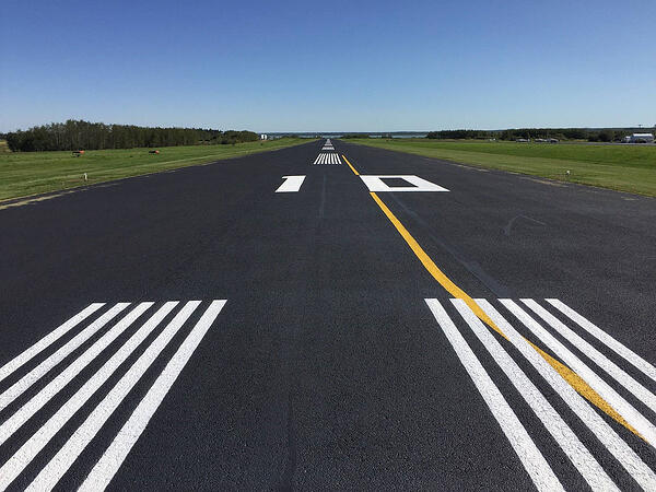 Cooking Lake Runway with Airport Maintenance