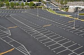 Sealcoated and Line Striped Parking Lot