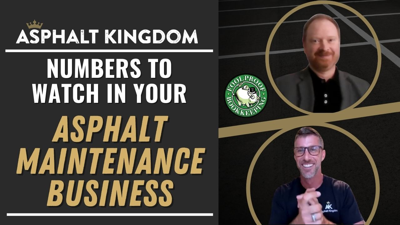 Numbers to Watch in Your Asphalt Maintenance Business